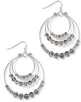 New York & Co. Beaded Hoop Drop Earring