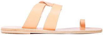Ancient Greek Sandals Alysis Metallic Leather Sandals