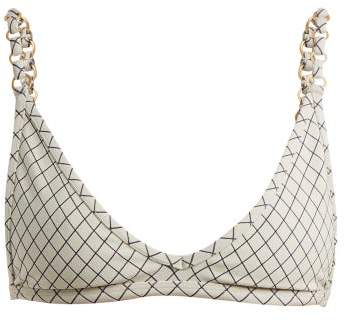 Made by Dawn Linx Triangle Bikini Top - Womens - Blue Multi