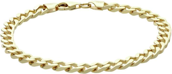 9ef55a79aea0e 9ct Gold Plated Sterling Silver Solid Curb Bracelet