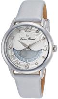 Lucien Piccard Silver Bellaluna Crystal Leather-Strap Watch - Women
