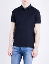 Calvin Klein Marl cotton-jersey polo shirt