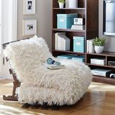 Furlicious Faux Fur Futon Set, Simply White, Full