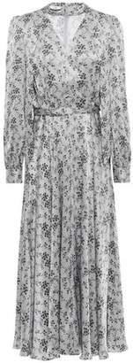 Co Belted Printed Silk-satin Midi Dress