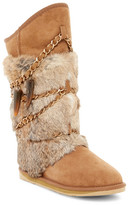Australia Luxe Collective Atilla Tall Genuine Shearling and Genuine Rabbit Fur Boot