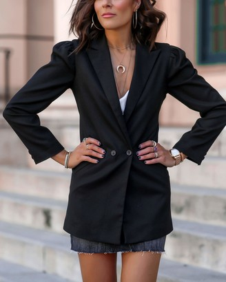 The Drop Women's Black Cutout-Back Blazer by @lucyswhims XXS