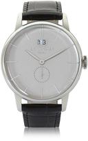 Locman 1960 Silver Stainless Steel Men's Watch w/Black Croco Embossed Leather Strap