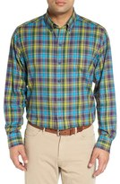 Cutter & Buck Men's Big & Tall 'Timber' Plaid Cotton Twill Sport Shirt