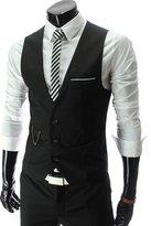 Tuliptrend Men's Business Slim Fit Vest For Spring Summer Autumn