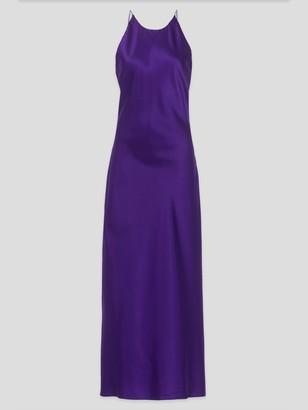 Rosetta Getty Satin-Silk Cross Back Slip Dress