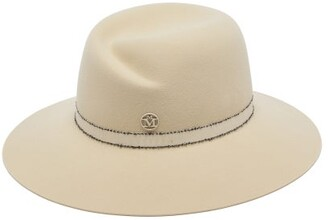 Maison Michel Virginie Felt Fedora Hat - Womens - Cream