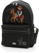 Dolce & Gabbana Nylon Backpack With Cowboy Patch