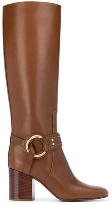 Chloé Knee-High Side Buckle Boots