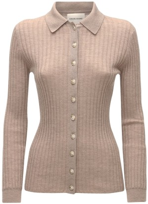 LOULOU STUDIO Sulug Wool Blend Knit Cardigan Top