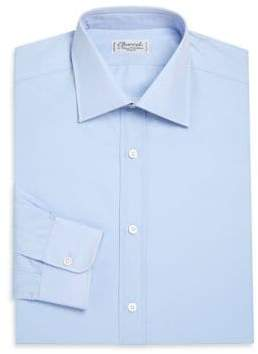 Charvet Regular-Fit Solid Cotton Dress Shirt