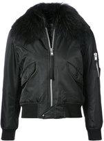 SAM. trim bomber jacket