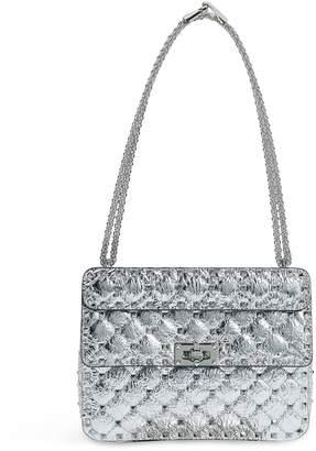 Valentino Garavani Medium Metallic Leather Rockstud Spike Shoulder Bag
