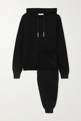Olivia von Halle Gia Berlin Cashmere And Silk-blend Hoodie And Track Pants Set - Black