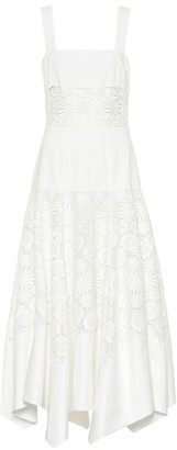 Rosie Assoulin Broderie anglaise cotton maxi dress