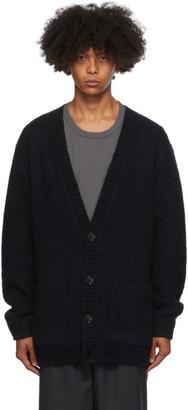 Dries Van Noten Black Big Knit Cardigan