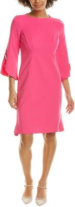 Teri Jon 3/4-Sleeve Shift Dress