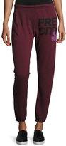 Freecity Logo Featherweight Sweatpants, Rose