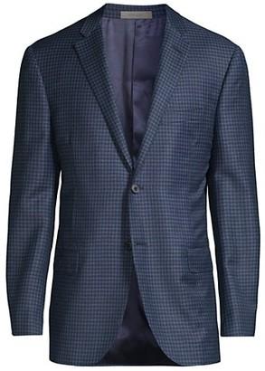 Corneliani Houndstooth Wool Sportcoat