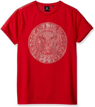 Akademiks Men's Metallic 3D Fashion Tee Shirt