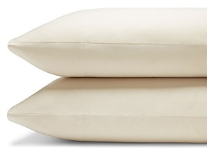 Coyuchi Organic Cotton Sateen 300TC King Pillowcase, Pair