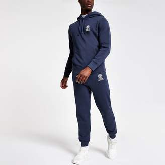 River Island Mens Franklin and Marshall Navy hoodie