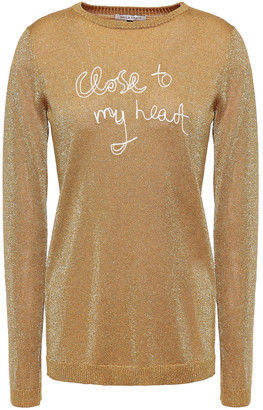 Bella Freud Embroidered Metallic Knitted Sweater