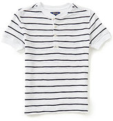 Ralph Lauren Big Boys 8-20 Striped Short-Sleeve Waffle-Knit Henley Tee
