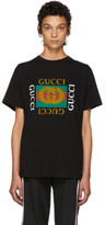 Gucci Black Tiger Logo T-shirt
