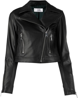 Victoria Victoria Beckham Cropped Leather Jacket