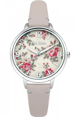 Cath Kidston Ladies Kingswood Rose Nude Leather Strap Watch CKL001PS