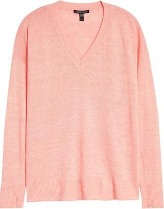 Eileen Fisher Box Top Organic Linen Sweater