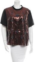Erdem Jewel Embellished Sequin Top w/ Tags