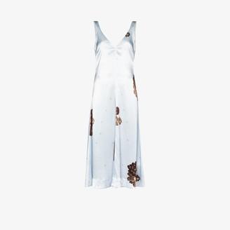 Ganni Floral Print Slip Dress