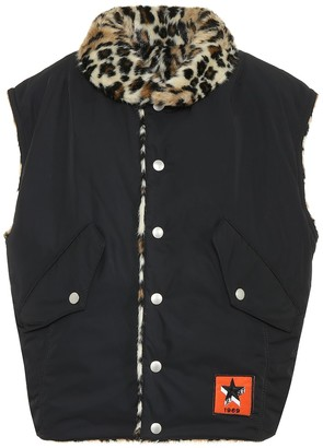 Jet Set Gold reversible faux fur gilet