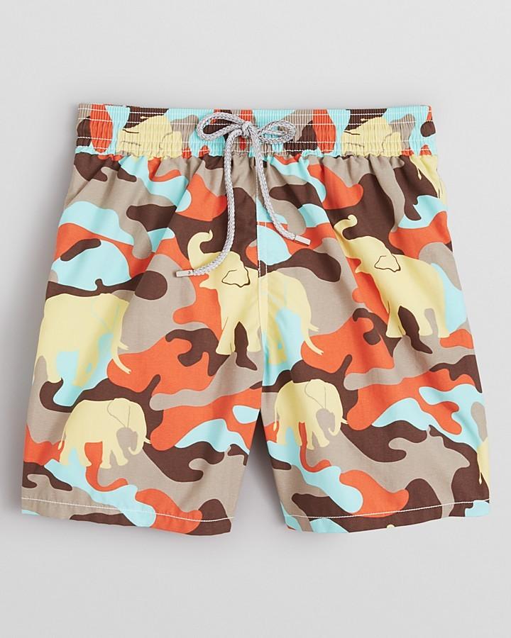 Vilebrequin Moorea Camo Elephant Swim Trunks