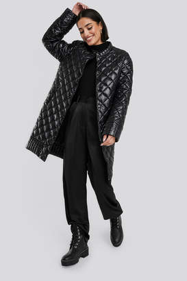 NA-KD Quilted Padded Jacket Black