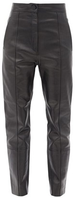 Petar Petrov Herena Panelled Leather Trousers - Black