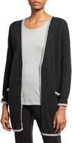 Eileen Fisher Merino Wool Jersey Edged Long-Sleeve Cardigan