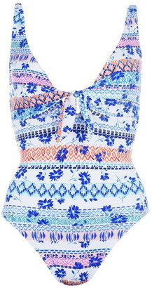 Figleaves Boho Floral Bunny Tie Shaping Swimsuit