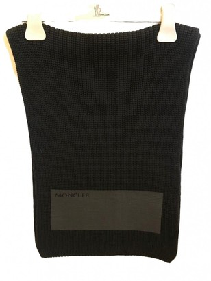Moncler Black Wool Scarves & pocket squares