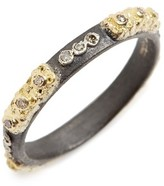 Armenta Women's Old World Carved Diamond Stack Ring