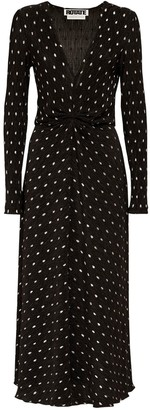 Rotate by Birger Christensen Sierra Polka Dots Midi Dress
