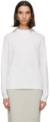 MAX MARA LEISURE White Rosalia Wool and Cashmere Sweater