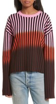 Opening Ceremony Women's Dip Dye Stripe Crewneck Sweater