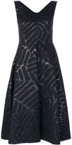 Talbot Runhof Notion dress - women - Polyester/Acetate/Cupro/Wool - 34